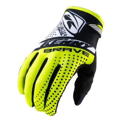 Gants cross Kenny Brave jaune fluo