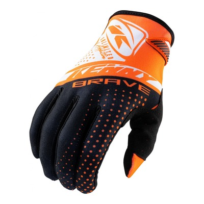 Gants cross Kenny Brave orange