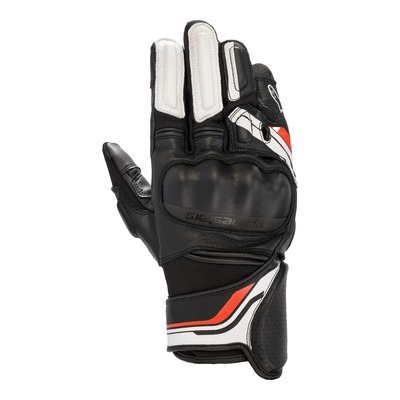Gants cuir/textile Alpinestars Booster v2 noir/blanc