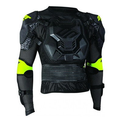 Gilet de protection enfant Shot Optimal 2.0 noir/jaune (Homologation FFM)