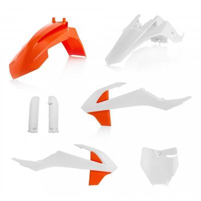 Kit plastiques complet Acerbis KTM 65 SX 2019 blanc/orange (couleur origine)