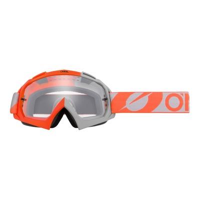 Masque cross O'Neal B-10 Twoface orange/gris – écran clair