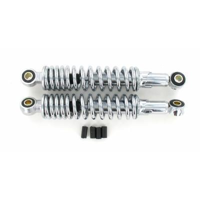Paire d'amortisseurs mécaniques réglables chromés 310 mm