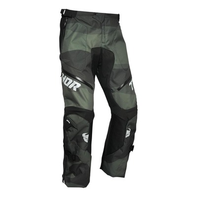 Pantalon enduro Thor Terrain vert camouflage (over the boot)