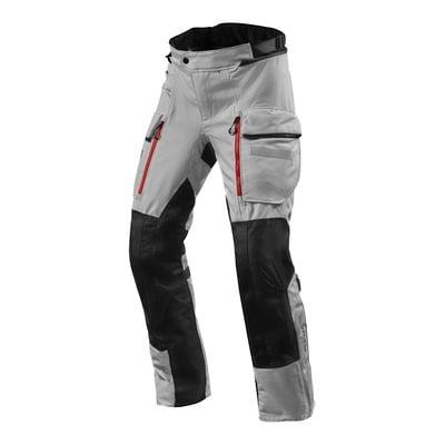 Pantalon textile Rev'it Sand 4 H2O (court) argent/noir