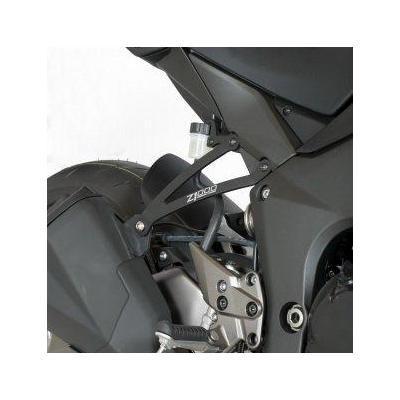 Pattes de fixation de silencieux R&G Racing noire Kawasaki Z 1000 10-18