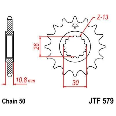 Pignon JT Sprockets Acier pas 530 18 dents - Pour Yamaha FZ1 06-15