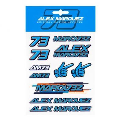 Planche d'autocollants Alex Marquez AM73 (13,5 x 16cm)