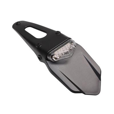 Support de plaque Replay luxe avec feu arrière intégré blanc à 6 leds avec bavette