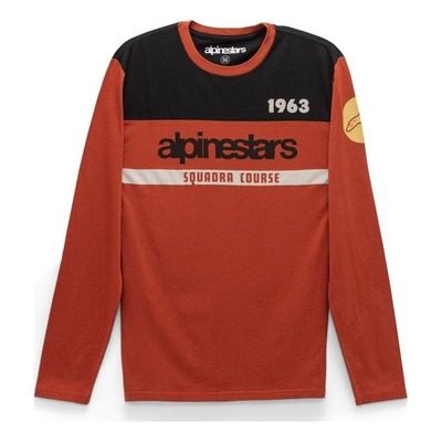 Tee-shirt manches longues Alpinestars Crossup premium coral