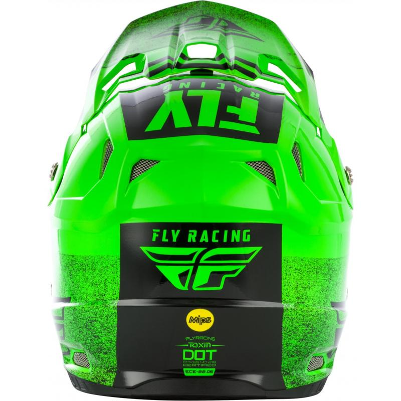 Casque cross Fly Racing Toxin Mips Embargo vert/noir - 3