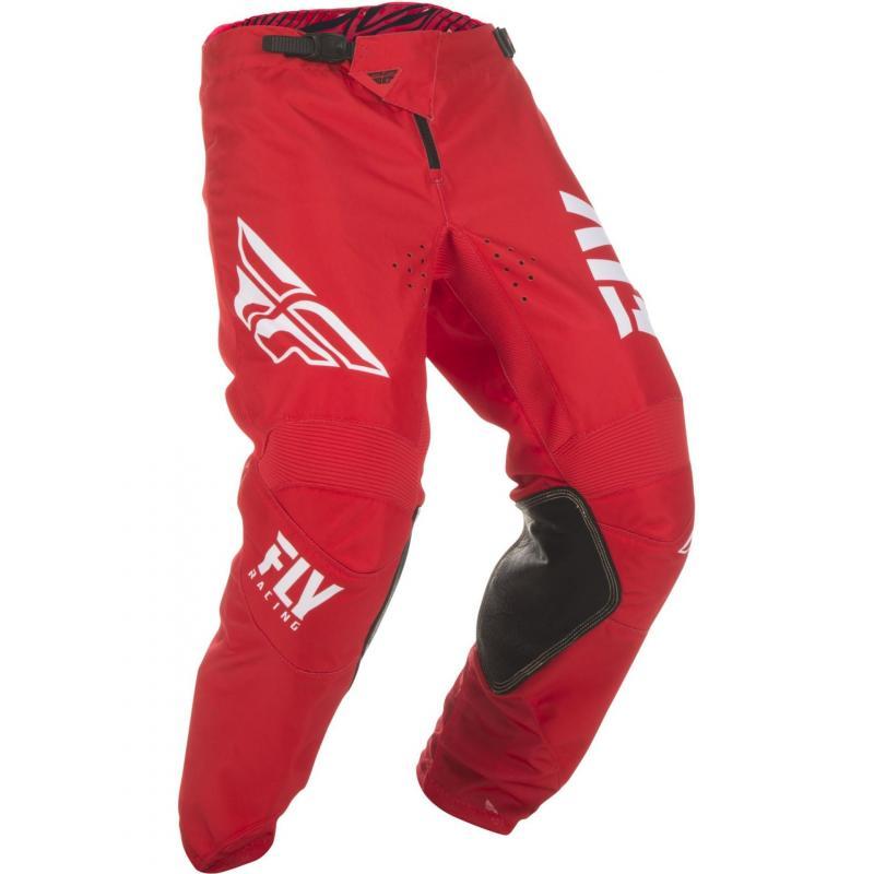 Pantalon cross enfant Fly Racing Kinetic Shield rouge/blanc