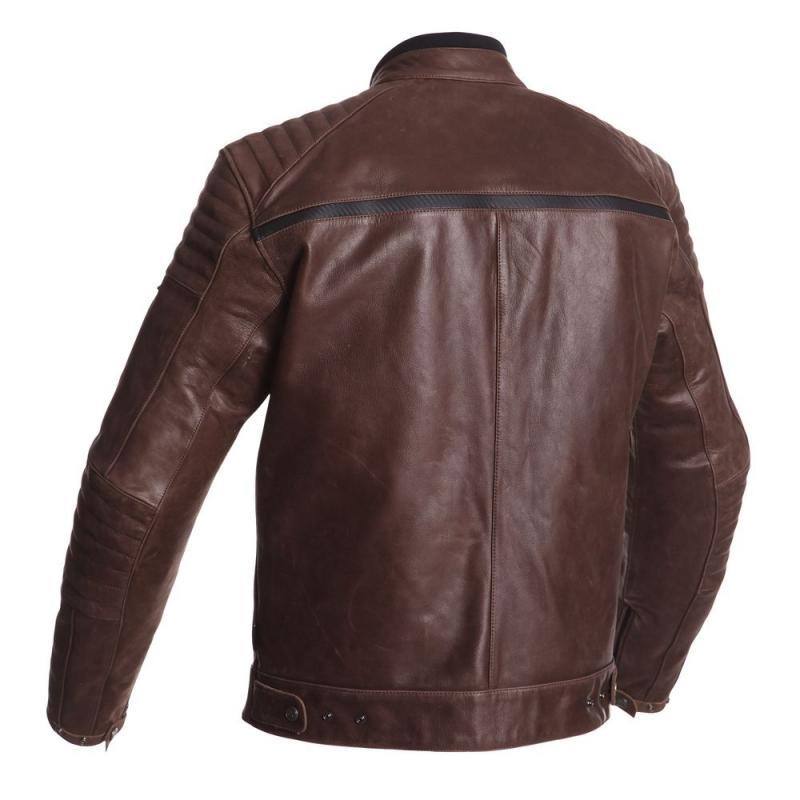 Blouson cuir Segura HORNER marron/noir - 1