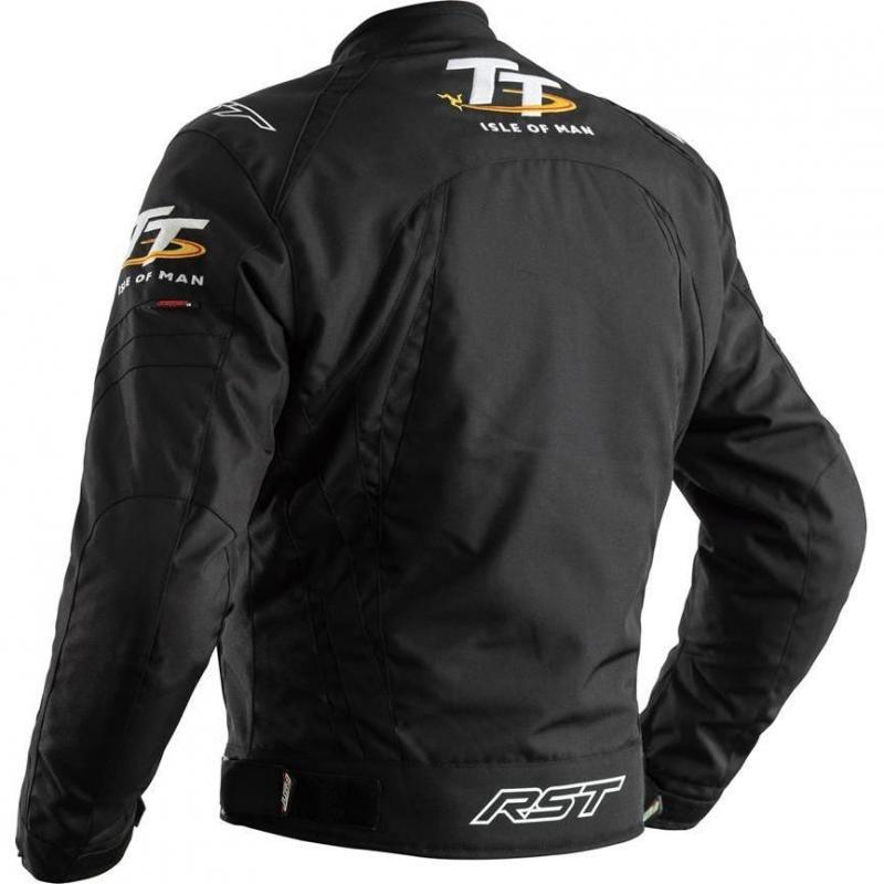Blouson textile RST Iom TT Grandstand CE noir (Avec doublure amovible) - 1