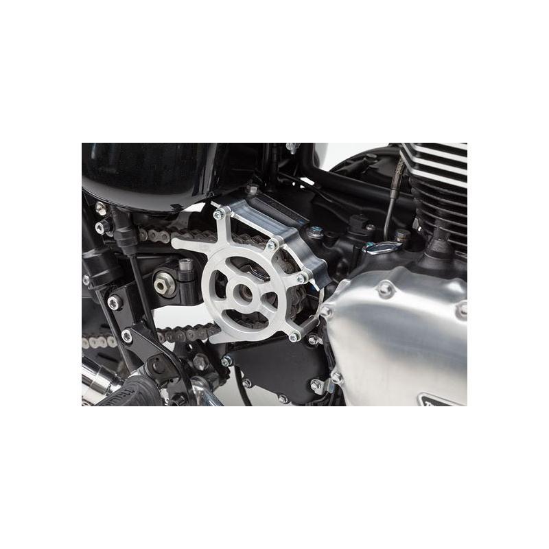 Carter de pignon de sortie de boite LSL Clubman couleur aluminium brut pour Triumph Scrambler 865 06
