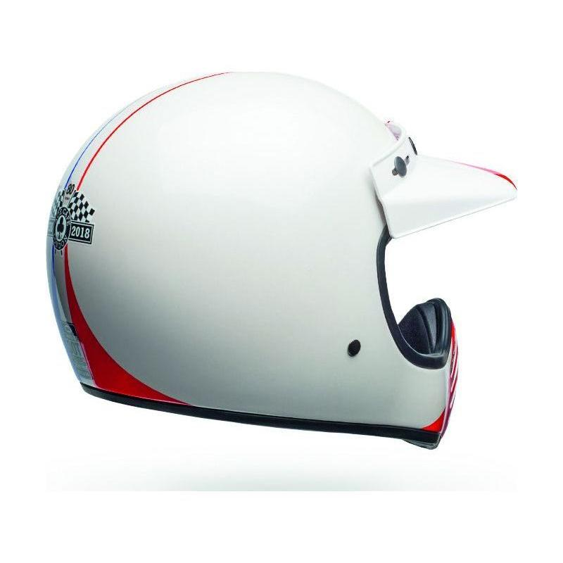 Casque Bell Moto 3 Ace Café GP 66 Gloss blanc/rouge - 5