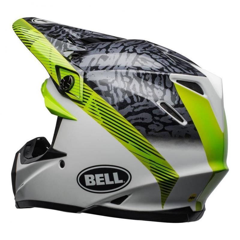 Casque cross Bell Moto-9 Mips Chief noir/blanc/vert - 4