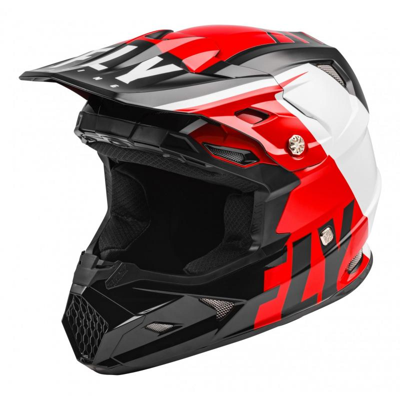 Casque cross enfant Fly Racing Toxin Mips Transfer rouge/noir/blanc