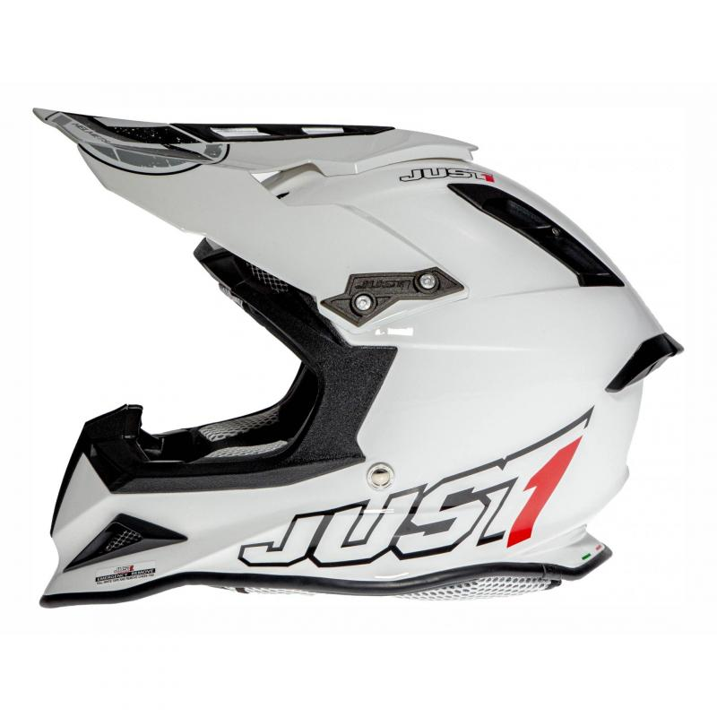 Casque cross Just1 J12 Solid blanc - 1
