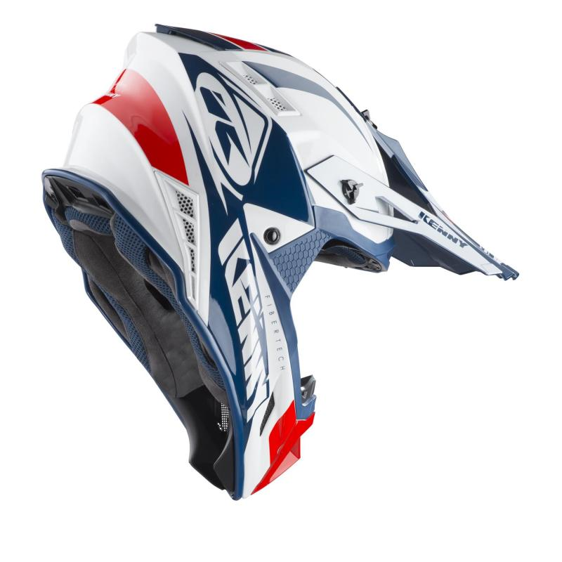 Casque cross Kenny Trophy blanc/rouge/navy - 1