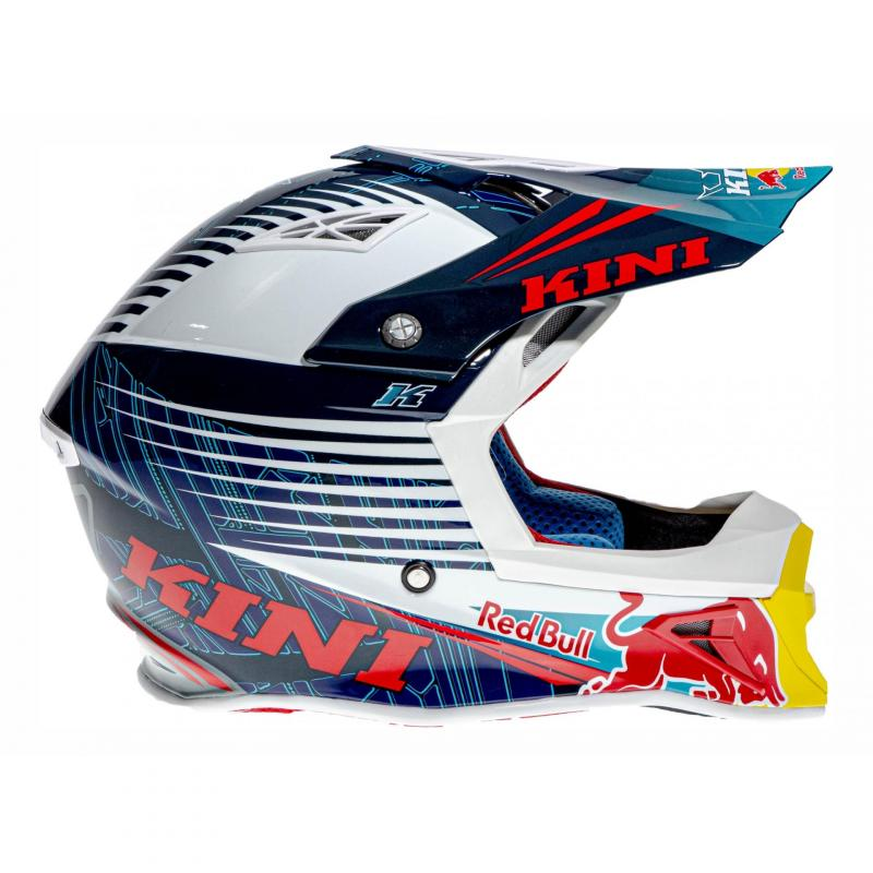 Casque cross Kini Red Bull Competition bleu marine - 2