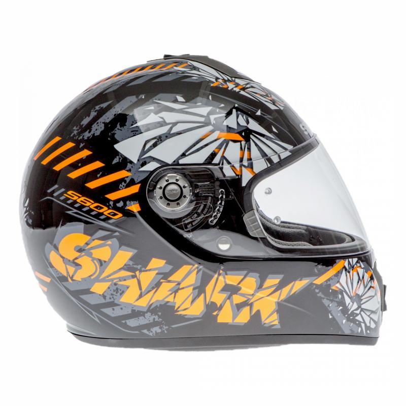Casque intégral Shark S600 PINLOCK POONKY noir/orange/anthracite - 2