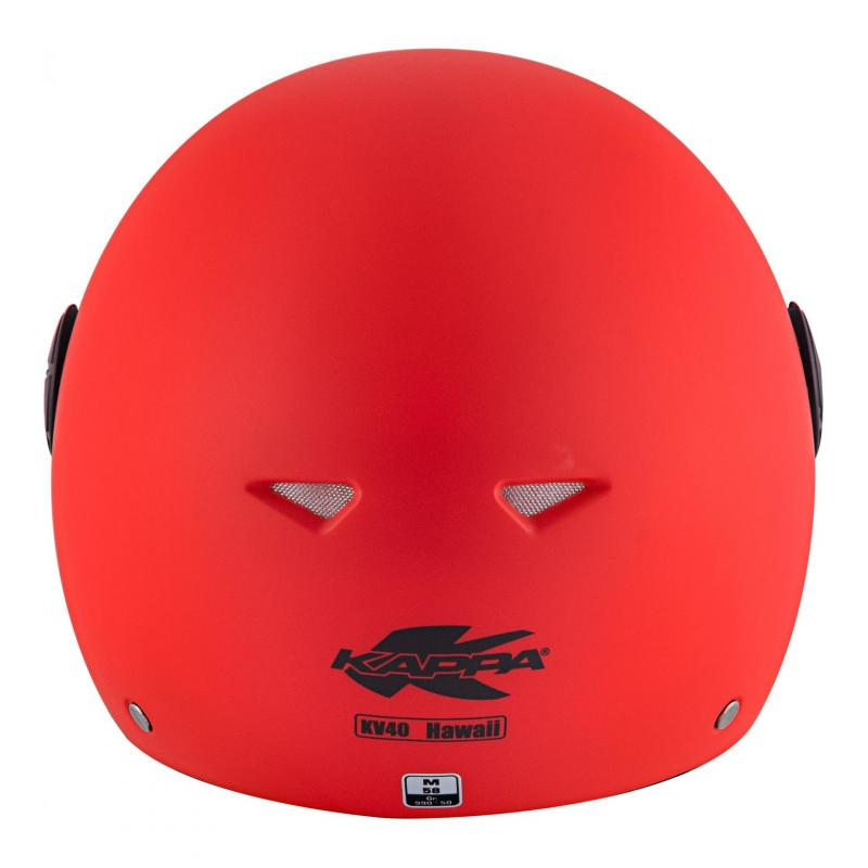 Casque jet Kappa KV40 Hawaii Basic rouge mat - 5