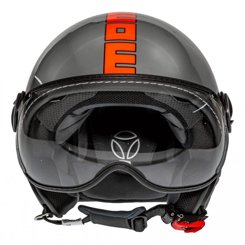 Casque jet Momo Design FGTR EVO gris métal/orange - 3