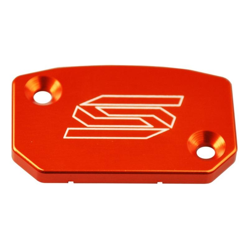 Couvercle de maître cylindre de frein avant Scar aluminium anodisé orange pour KTM SX 250 07-16