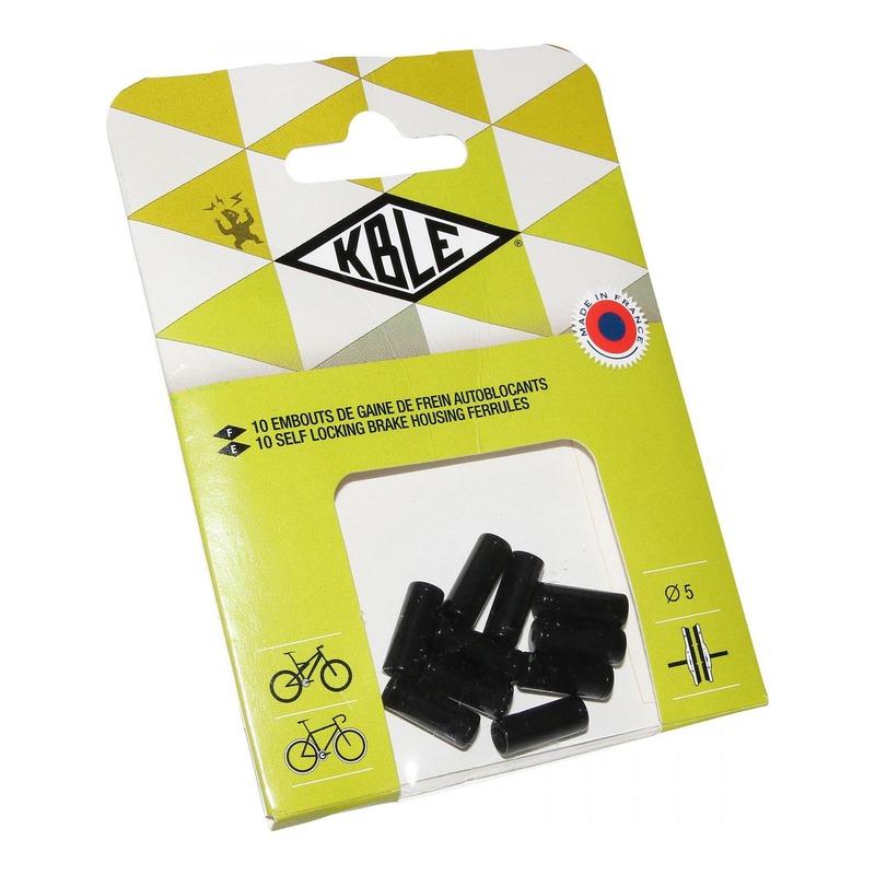 Embouts de gaine autobloquant frein Transfil Ø5mm noir (10 pièces)