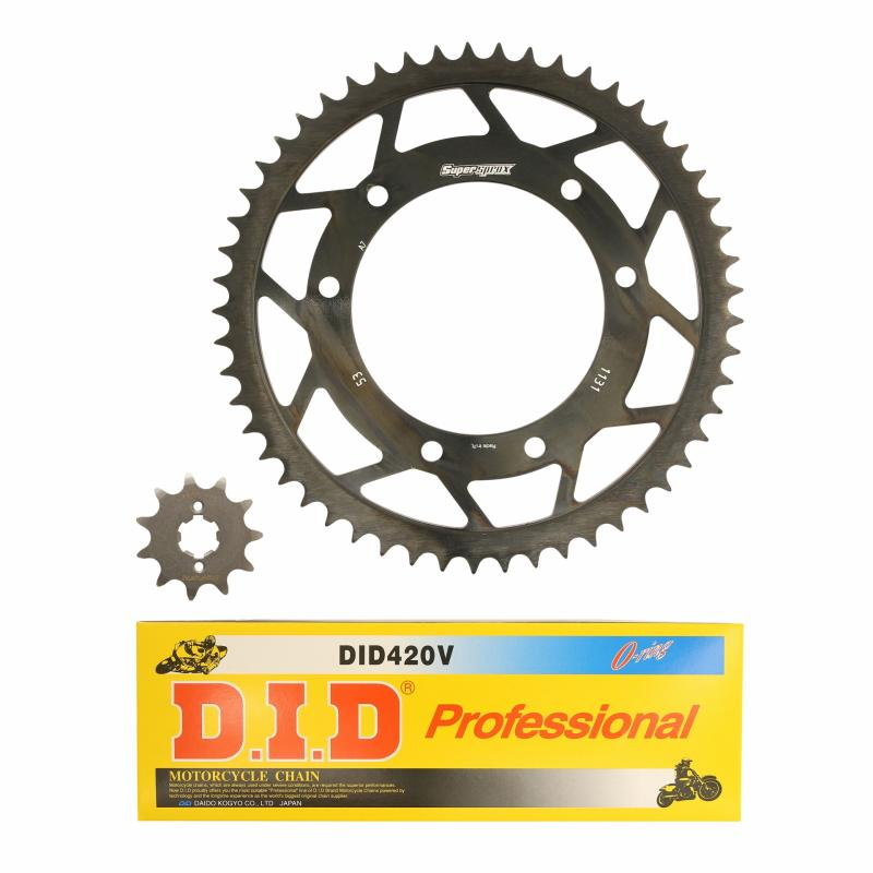 Kit chaîne DID 11x53 pas 420 Derbi 50 Senda X-race 06-08