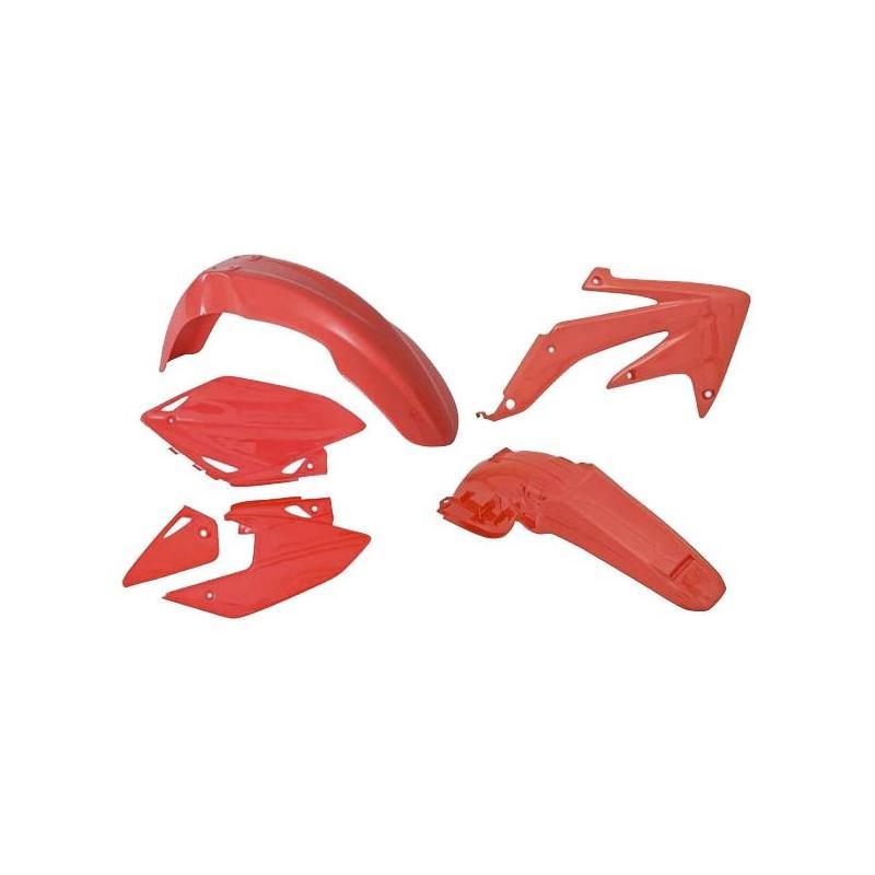 Kit plastique RTech Honda CRF 450RX 05-07 rouge (rouge CR)