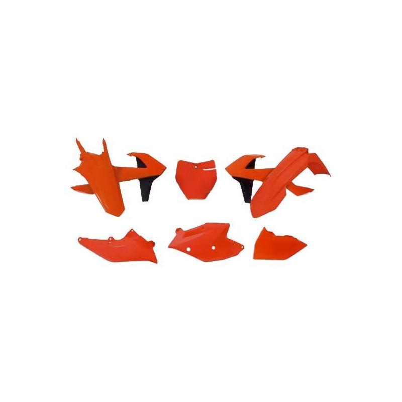 Kit plastique RTech KTM 250 SX 17-18 orange fluo/noir