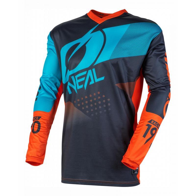 Maillot cross O'Neal Element Factor gris/orange/bleu