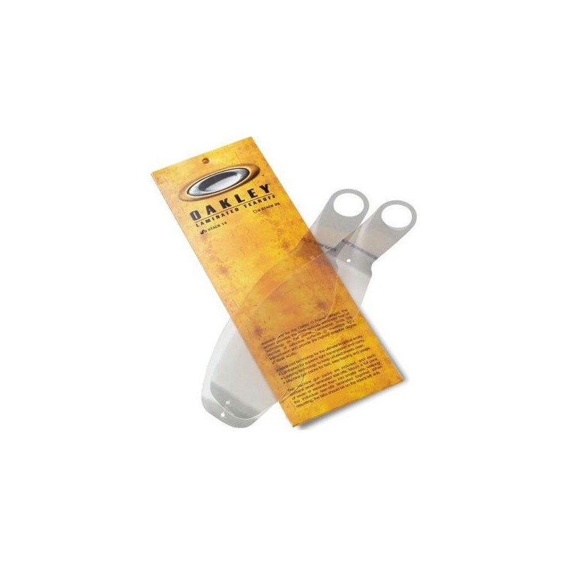 Pack 14 tear-offs laminés Oakley pour masques O-Frame transparent
