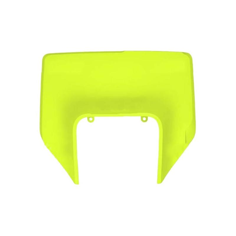 Plastique plaque phare UFO Husqvarna 250 FE 2020 jaune fluo
