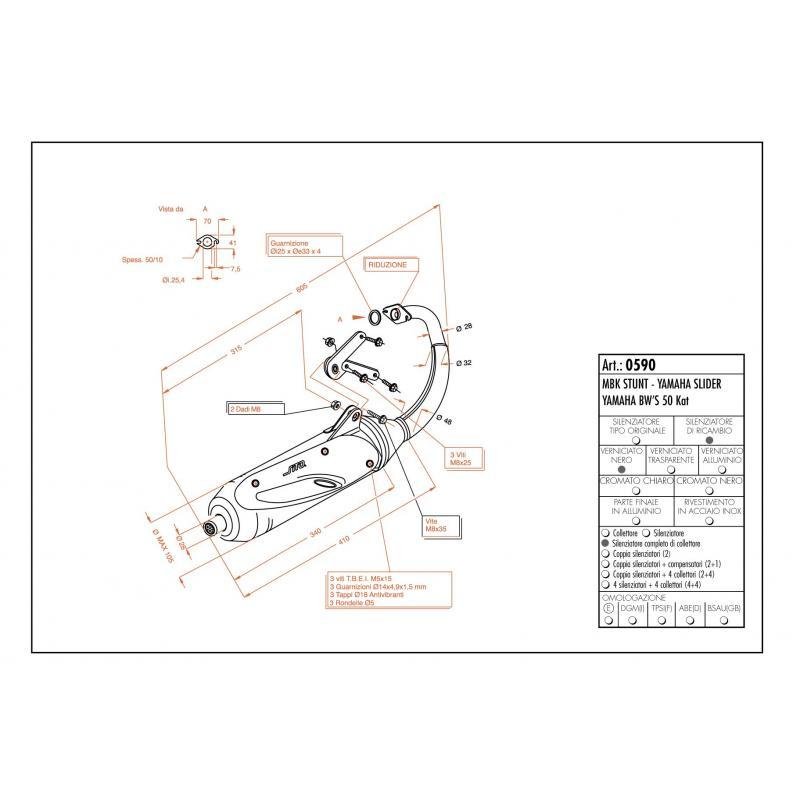 Pot d'échappement Sito pour Yamaha Slider 50 00-02 - 1