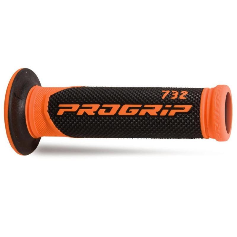 Revêtements de poignée Progrip 732 Open end noir/orange fluo