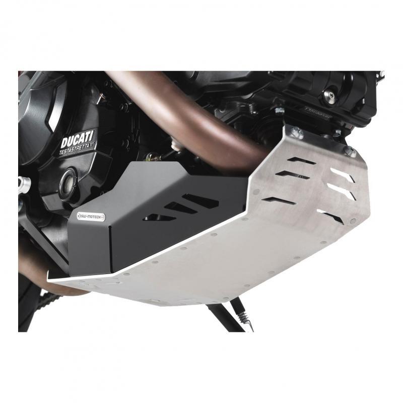 Sabot moteur SW-MOTECH noir / gris Ducati Hyperstrada / Hypermotard