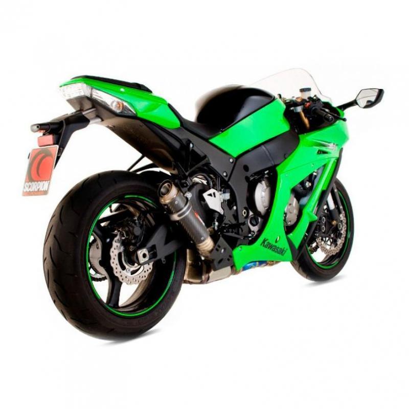 Silencieux Scorpion RP1-GP carbone Kawasaki ZX-10 R 11-15