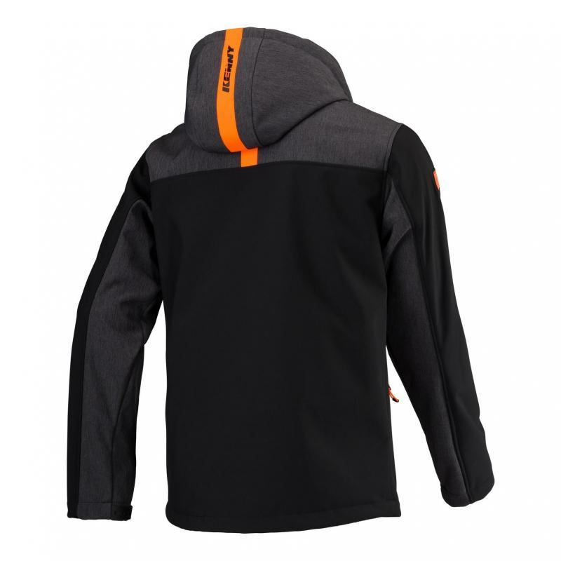 Veste Kenny Softshell Racing noir/gris/orange - 1