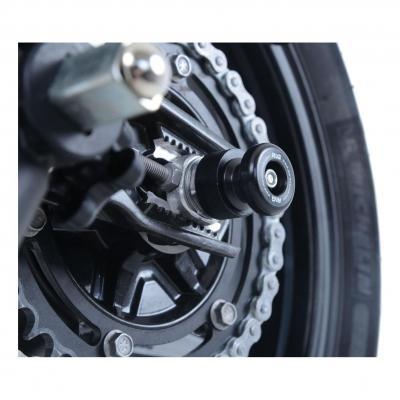 Diabolos de bras oscillant R&G Racing noir sur axe Ducati Monster 797 17-18
