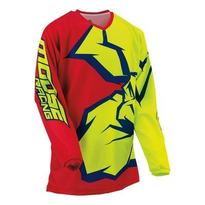 Maillot cross enfant Moose Racing Qualifier rouge/jaune/bleu