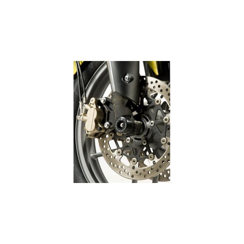 Tampons de protection de fourche R&G Racing noirs Triumph Tiger 800 11-17