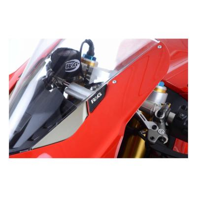 Caches orifices de rétroviseur R&G Racing noirs Ducati Panigale V4 18-20