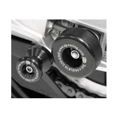 Tampons de bras oscillant R&G Racing noir Aprilia Dorsoduro 750 08-17