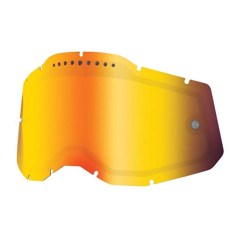 Écran masque cross 100% RC2/AC2/ST2 écran double ventilé iridium or