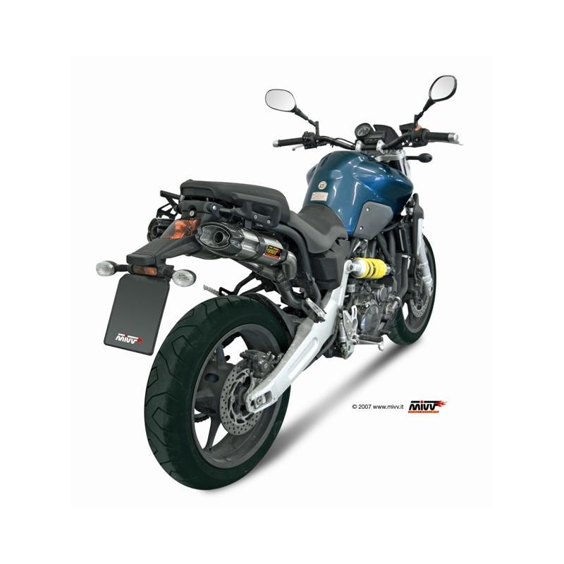Silencieux double MIVV Suono inox / casquette carbone Yamaha MT-03 06-
