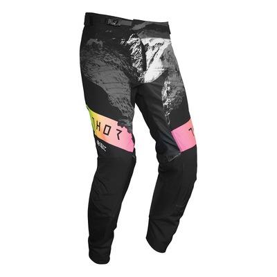 Pantalon cross Thor Prime Pro Mesmer noir/jaune/rose