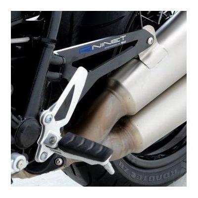 Patte de fixation de silencieux R&G Racing noire Yamaha YZF-R3 15-18